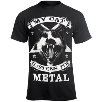 tricou hardcore bărbați - MY CAT LISTENS TO METAL - AMENOMEN, AMENOMEN