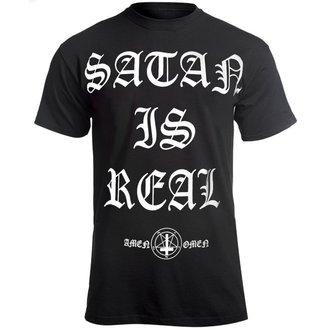 tricou hardcore bărbați - SATAN IS REAL - AMENOMEN, AMENOMEN