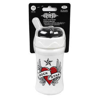 Sticlă-biberon copii (340ml) ROCK STAR BABY - Heart & Wings, ROCK STAR BABY