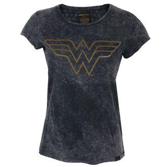 tricou cu tematică de film femei Wonder Woman - BLACK -