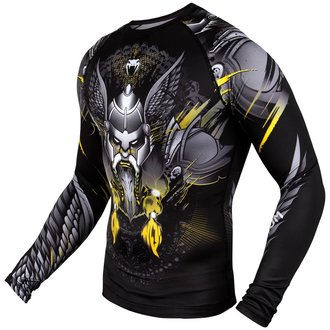 a bărbaţilor termo lung maneca tricou Venum - Viking 2.0 Rashguard - Negru / Galben, VENUM