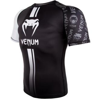 Tricou bărbătesc termic (rashguard) Venum - Logos Rashguard - Black / White , VENUM
