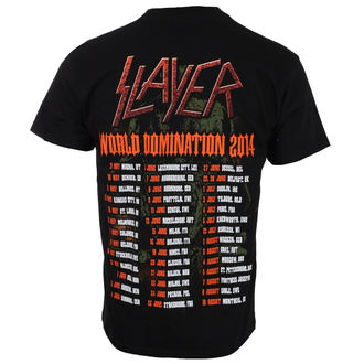 tricou stil metal bărbați Slayer - SOLDIER CROSS 2014 DATEBACK - ROCK OFF, ROCK OFF, Slayer