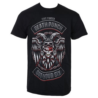 Tricou bărbătesc Five Finger Death Punch - Biker Badge - Black - ROCK OFF, ROCK OFF, Five Finger Death Punch