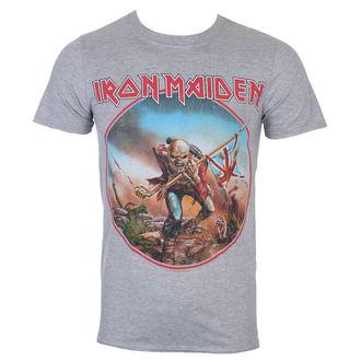 Tricou bărbătesc Iron Maiden - Trooper - Grey - ROCK OFF, ROCK OFF, Iron Maiden