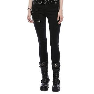 Pantaloni damă (blugi) PUNK RAVE - Black Star, PUNK RAVE
