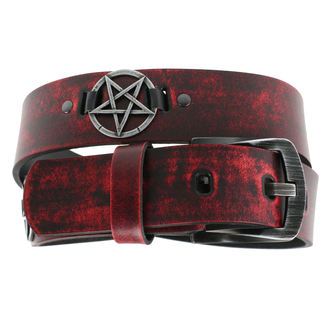 Curea Pentragram - red, JM LEATHER