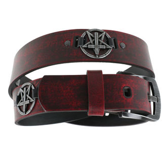 Curea Pentagram Cross - red, JM LEATHER