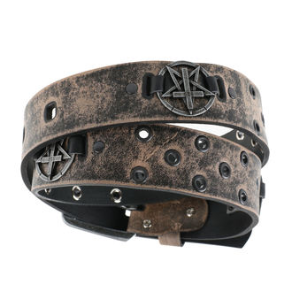 Curea Pentagram Cross - brown, JM LEATHER