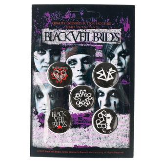 Insigne cu bolț de prindere Black Veil Brides - RAZAMATAZ, RAZAMATAZ, Black Veil Brides
