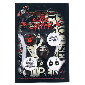 Insigne cu bolț de prindere Alice Cooper - RAZAMATAZ, RAZAMATAZ, Alice Cooper