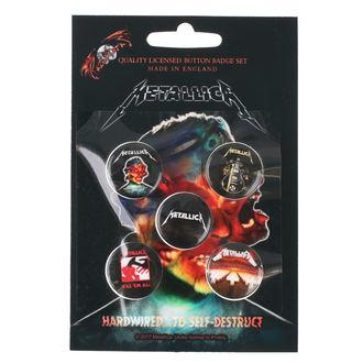 Insigne cu bolț de prindere Metallica - RAZAMATAZ, RAZAMATAZ, Metallica