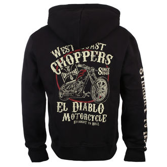 hanorac cu glugă bărbați - EL DIABLO - West Coast Choppers, West Coast Choppers