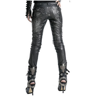 Pantaloni femei PUNK RAVE - Therion - black / silver, PUNK RAVE