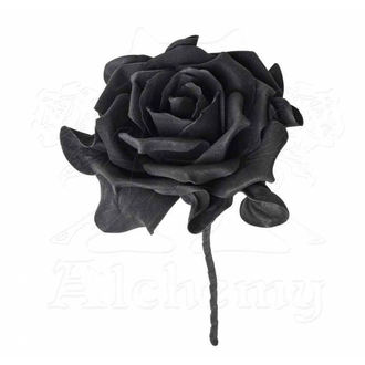 Decorațiune ALCHEMY GOTHIC - Single Black Rose with Stem - ROSE5