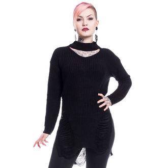 Pulover damă Vixxsin - SLIT NECK DECAY - BLACK, VIXXSIN