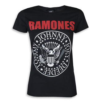 tricou stil metal femei Ramones - RED TEXT SEAL LOGO - PLASTIC HEAD, PLASTIC HEAD, Ramones