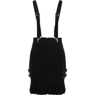 Fustă de damă KILLSTAR - Synth Suspender - NEGRU - KSRA001636
