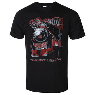 tricou stil metal bărbați Aerosmith - Train kept a going - LOW FREQUENCY, LOW FREQUENCY, Aerosmith