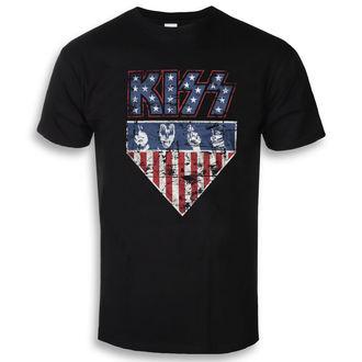 tricou stil metal bărbați Kiss - Stars & Stripes - HYBRIS, HYBRIS, Kiss