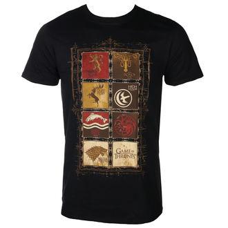 tricou cu tematică de film bărbați Hra o trůny - BLOCK SIGILS - PLASTIC HEAD, PLASTIC HEAD