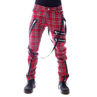 Pantaloni bărbătești VIXXSIN - VINCENT - RED TARTAN, VIXXSIN