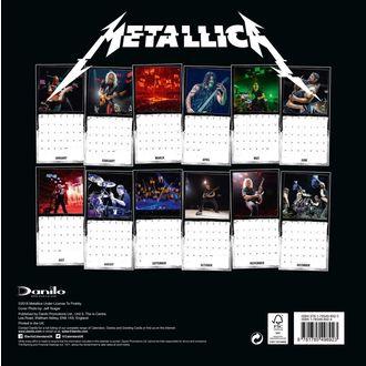 Calendar pentru anul 2019 - METALLICA, Metallica