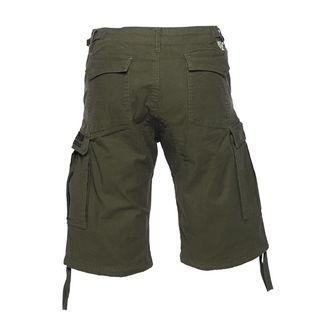 Pantaloni bărbătești scurți WEST COAST CHOPPERS - CARGO - Olive green, West Coast Choppers