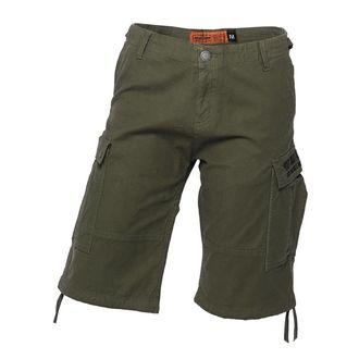 Pantaloni bărbătești scurți WEST COAST CHOPPERS - CARGO - Olive green, West Coast Choppers