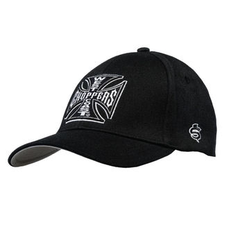 Șapcă WEST COAST CHOPPERS - OG CROSS AUSTIN - Black, West Coast Choppers