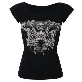 tricou stil metal femei Guns N' Roses - Skeleton - ROCK OFF, ROCK OFF, Guns N' Roses