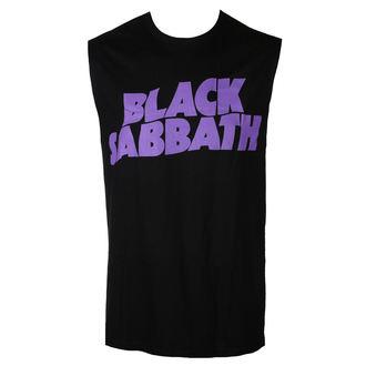 Maieu tank bărbătesc BLACK SABBATH - PURPLE LGO - BRAVADO, BRAVADO, Black Sabbath