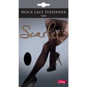 Colanţi LEGWEAR - mock lace suspender - black, LEGWEAR
