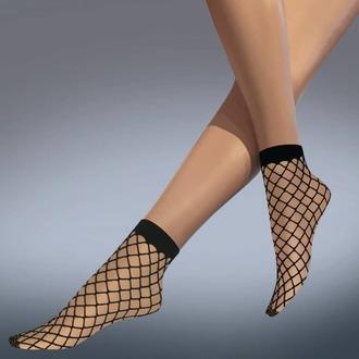 Şosete (mulate) LEGWEAR - whale net ankle highs - black - LE006